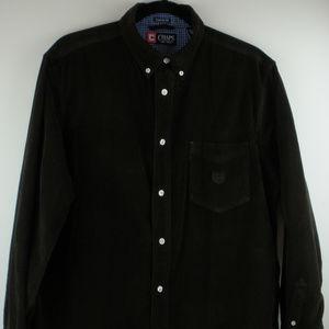 Chaps Custom Fit Brown Corduroy Shirt Sz L